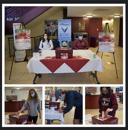 The Student Alumni Association sponsored a Humanics in Action project, asking campus community members to write holiday post cards to our troops to coincide with Veterans Day week. The Alumni Office staff works with Operation Gratitude to ensure that active servicemen and servicewomen will receive these holiday greetings from the Springfield College campus community.