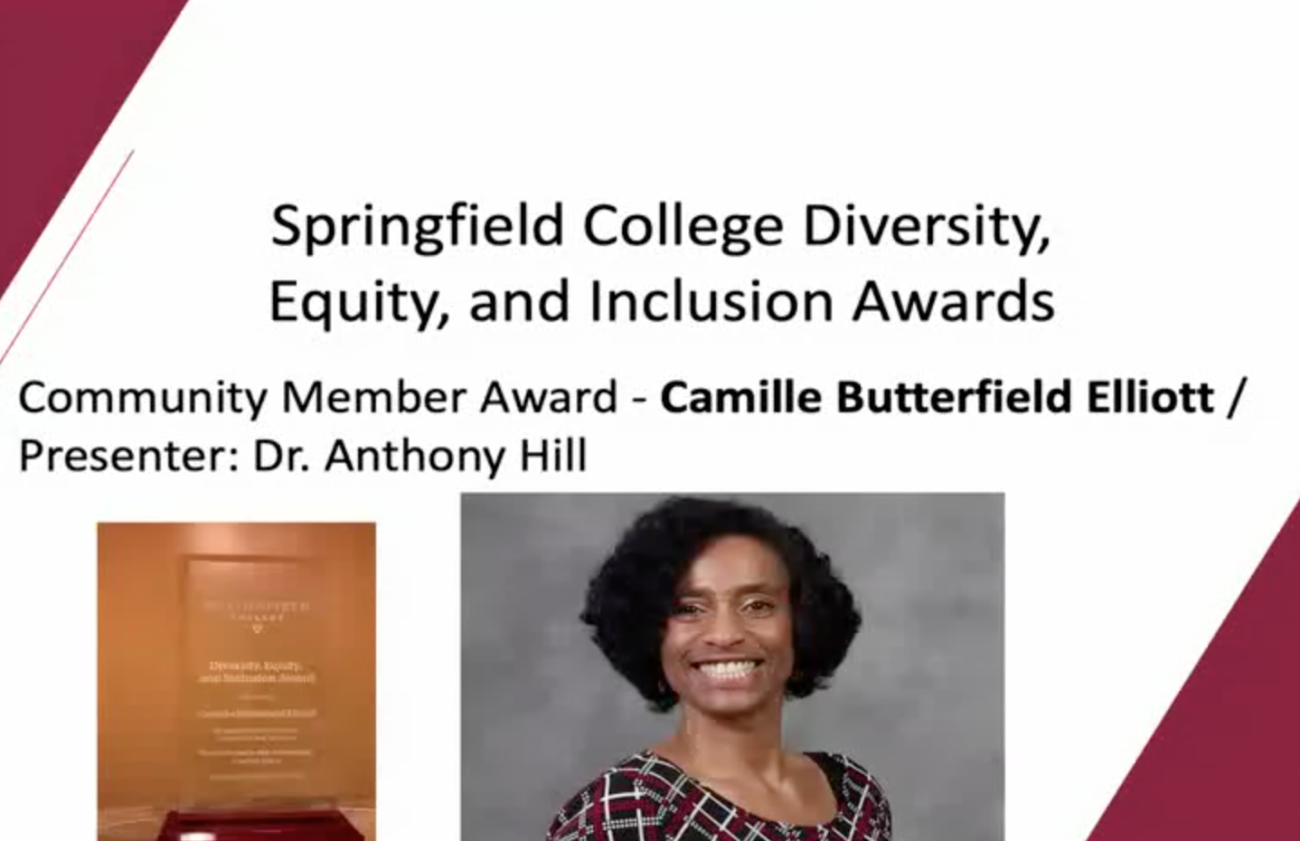 Community Member Award - Camille Butterfield Elliott / Presenter: Dr. Anthony Hill
