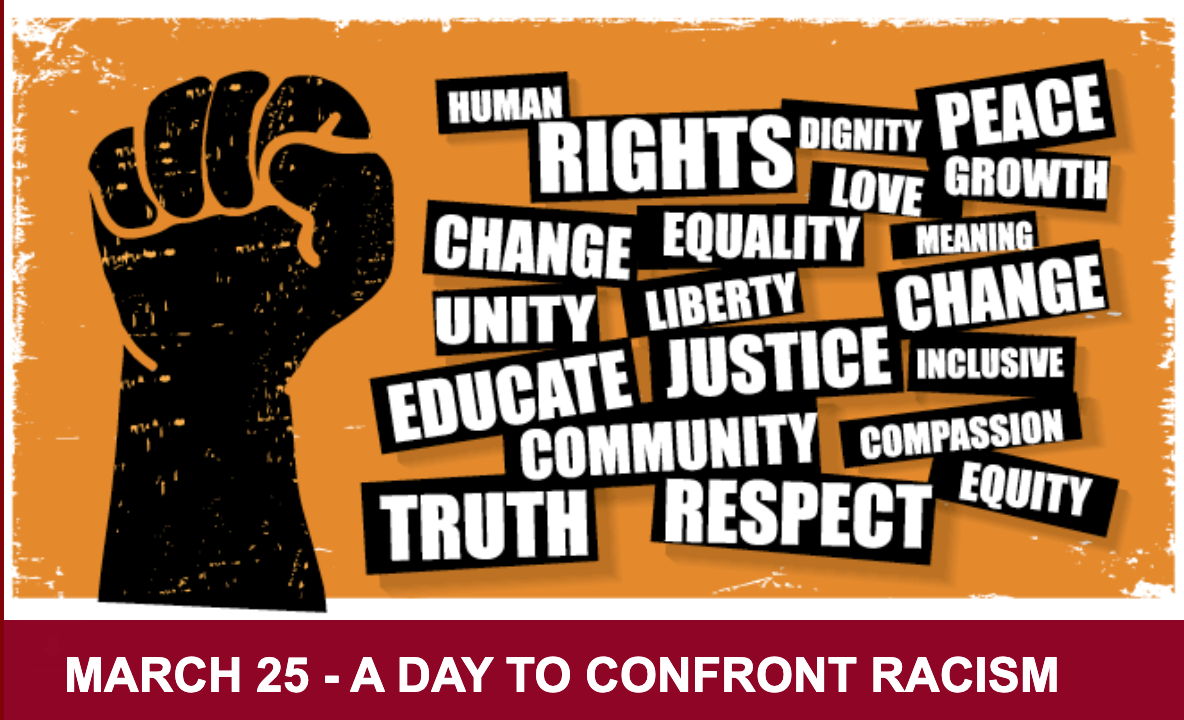 In conjunction with the Springfield College Legacy Alumni of Color, the Springfield College community has set aside Thursday, March 25 for A Day to Confront Racism, featuring workshops and conversations to confront racism, power, privilege, and prejudice. This date also is the International Day of Remembrance of the Victims of Slavery and Transatlantic Slave Trade, the impetus for this daylong event.