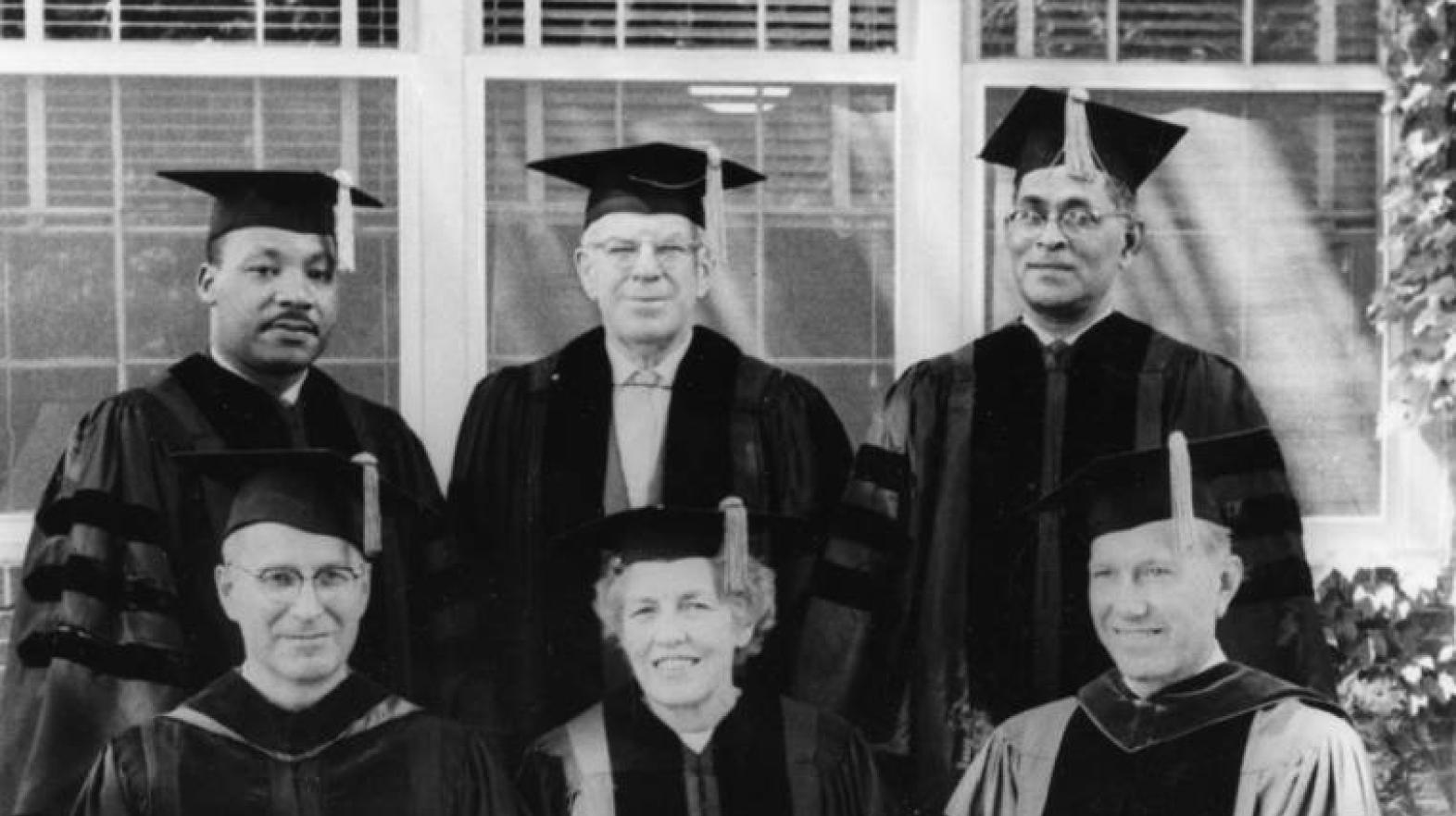 Rev. Martin Luther King Jr. gives the commencement address and receives an honorary Doctor of Humanics on June 14, despite outside attempts to persuade the College to rescind its invitation to King.