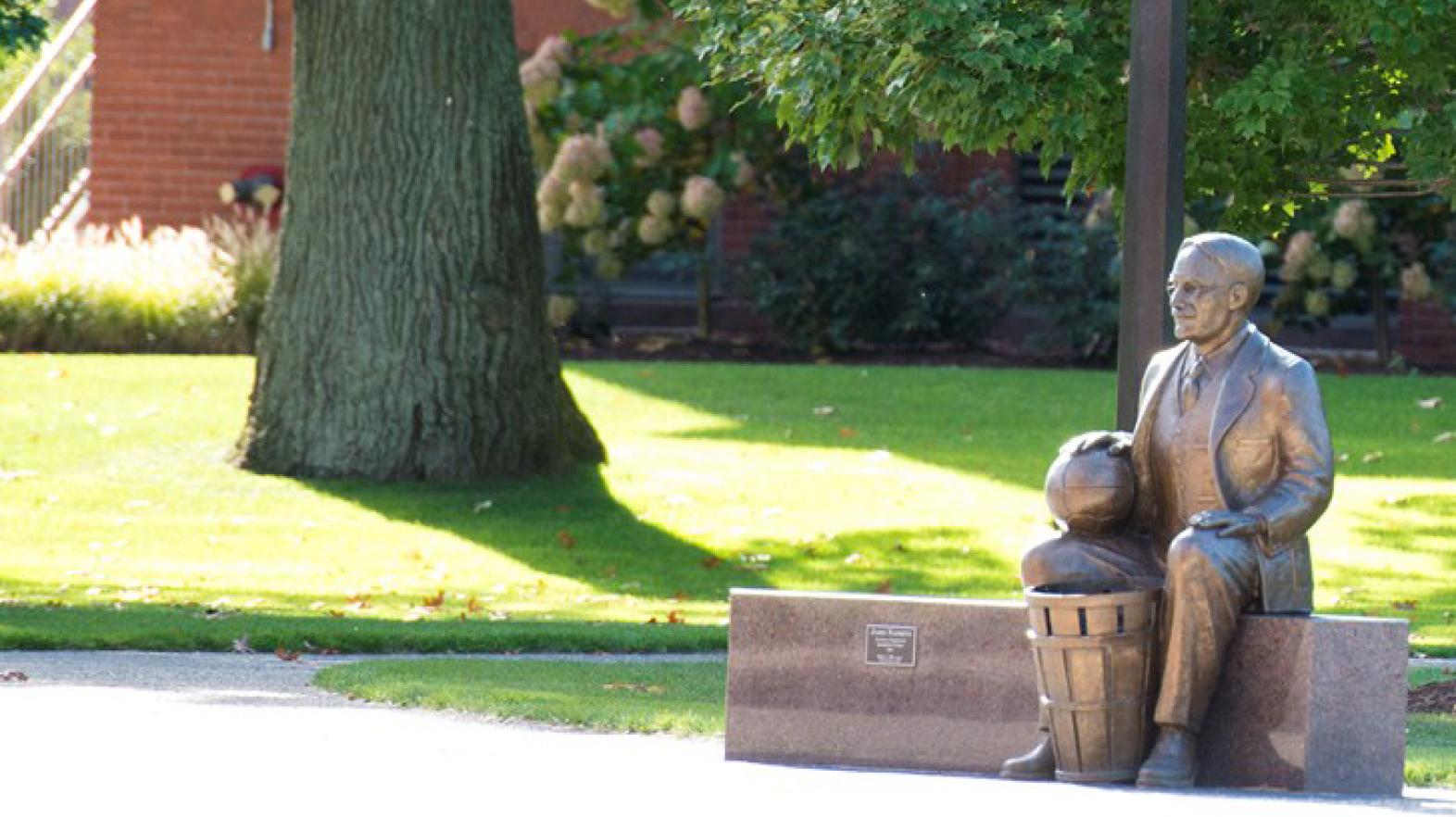 Statue of James Naismith at Springfield College