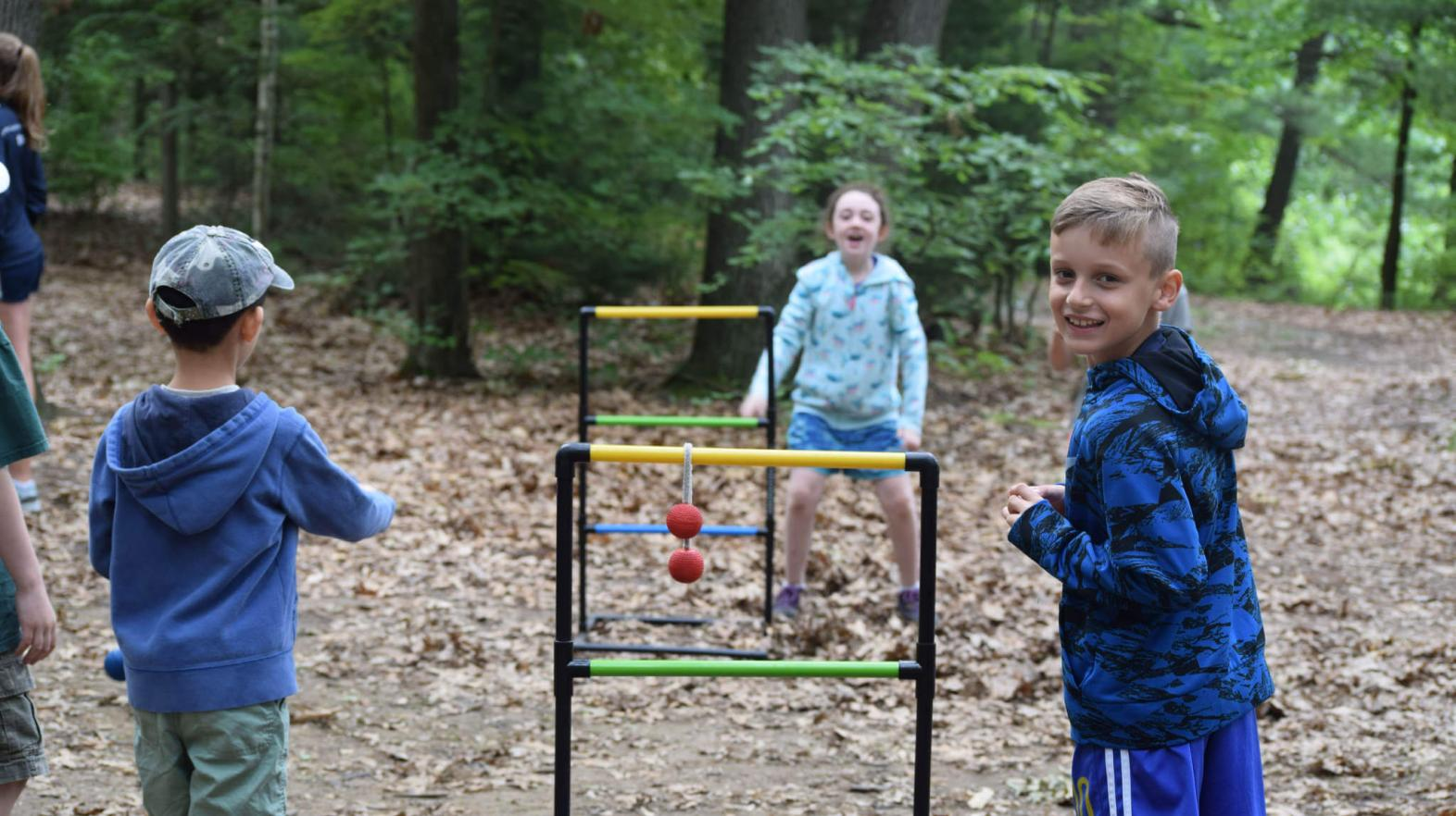 Campers play ladder ball