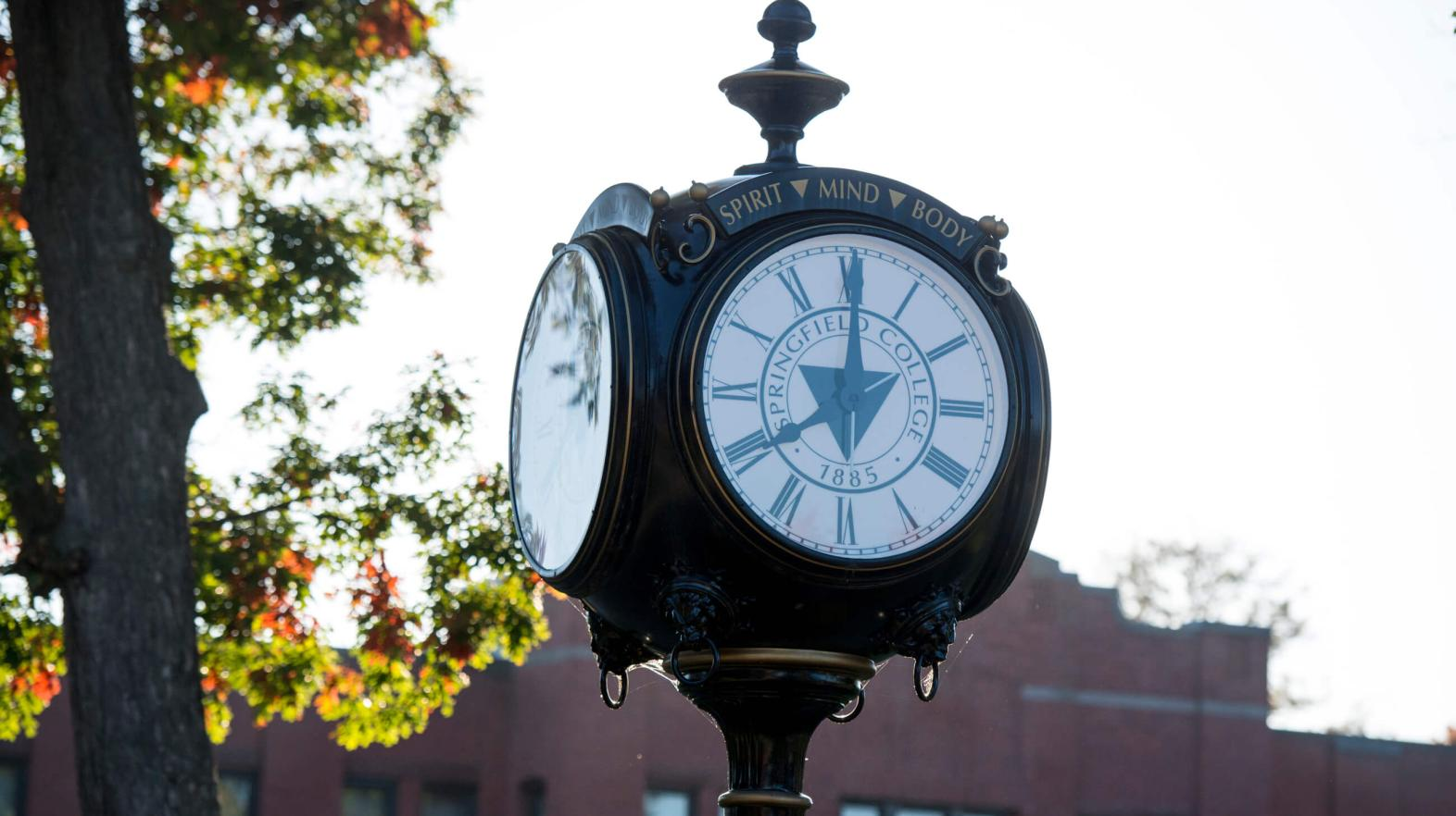 The clock on campus.
