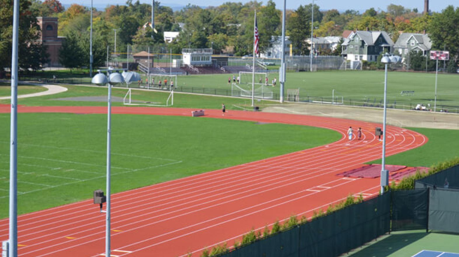 Aerial view of Blake Track.