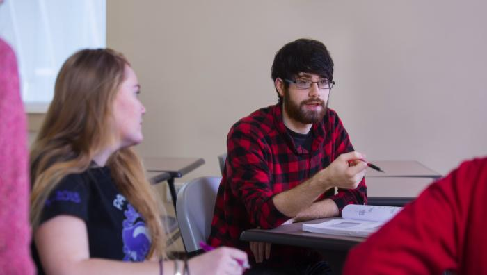 Engaged sociology students in classroom at Springfield College