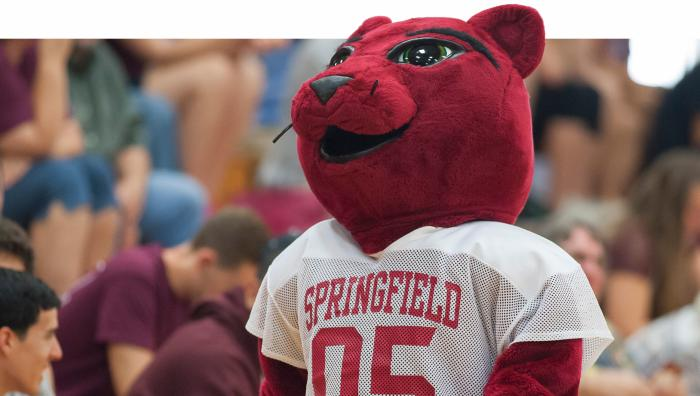 Springfield College mascot, Spirit the Majestic Lion