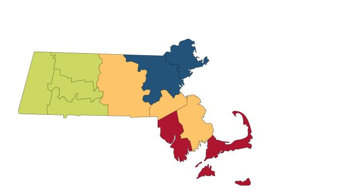 Massachusetts Admissions Counselor Regions