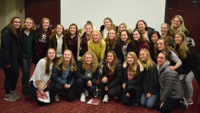 group photo with Kristine Lilly
