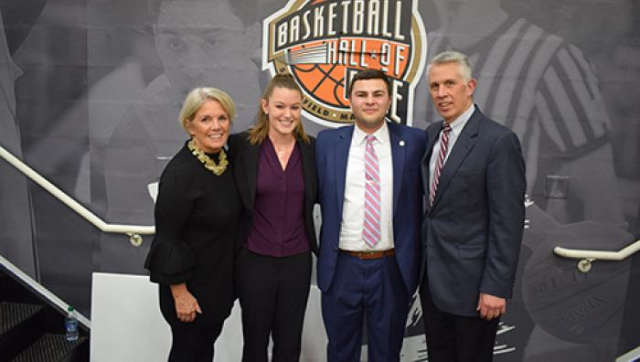 Springfield College and the Naismith Memorial Basketball Hall of Fame presented the eighth annual Naismith Memorial Basketball Hall of Fame Scholarship.