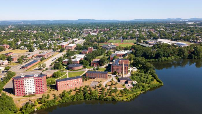 An arial view of Springfield College