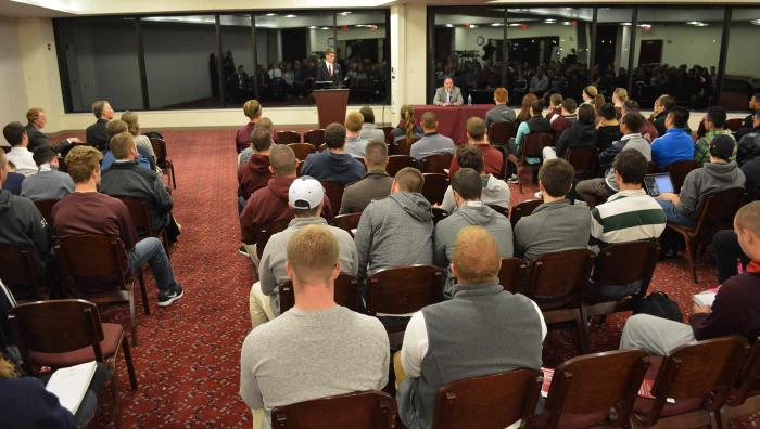 The Springfield College Athletic Administration Graduate Program will host its annual leadership series for the spring semester featuring opportunities for students within the National Junior College Athletic Association on Wednesday, March 4, at 7 p.m., in the Cleveland E. and Phyllis B. Dodge Room located in the Flynn Campus Union. The event is free and open to the public.