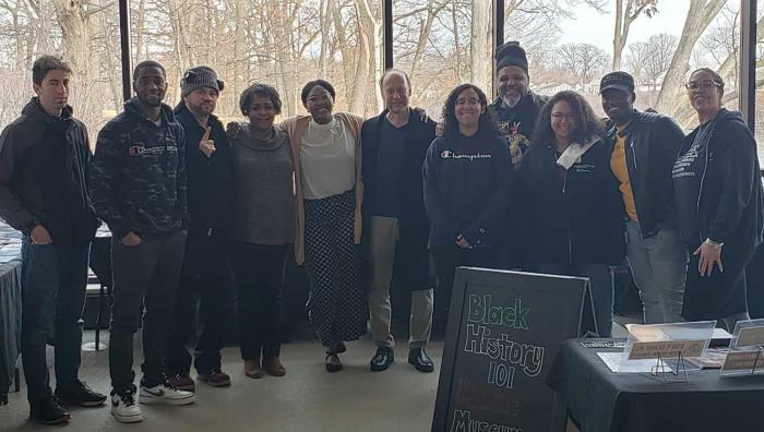 In alignment with the annual Springfield College Black History Month Luncheon, The Office of Multicultural Affairs hosted the Black History 101 Mobile Museum on campus in the Flynn Campus Union.