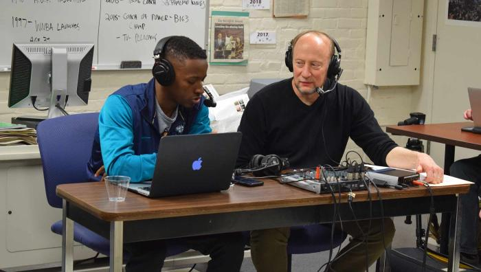Liberty, Justice, and Ball is a podcast on the intersection of basketball and social justice. It was created in October 2019 by Springfield College Communications/Sports Journalism major Kris Rhim ('21) and Professor of Communications Marty Dobrow.