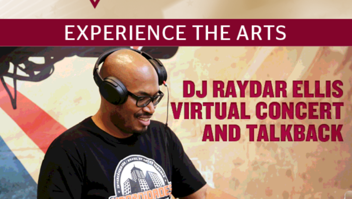 William Simpson Fine Arts Series Virtual Music Events featuring DJ Raydar Ellis