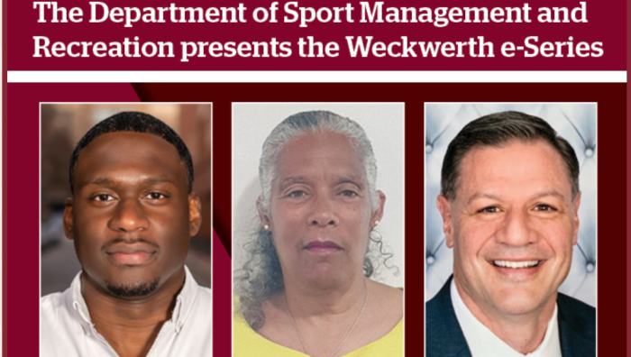 The Weckwerth e-Series will bring leading experts in the fields of sport management and recreation to Springfield College to address emerging trends in these areas.
